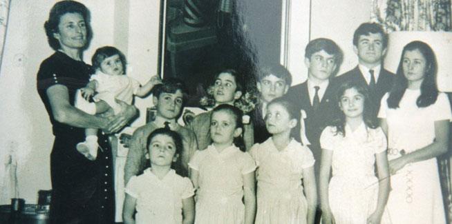 La Marquesa de La Guardia con sus once hijos